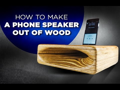 Learn how to make a speaker out of wood – Easy DIY project