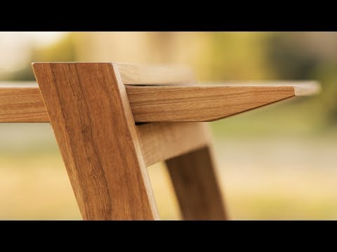 Designing and Building a Modern Bench – Woodworking Projects