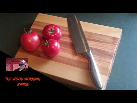 how to make a cutting board. great easy woodworking projects for beginners that sell!