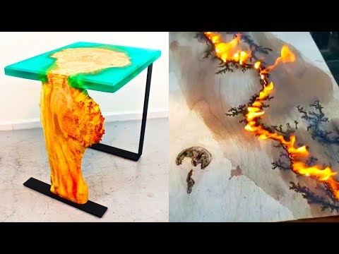 50 Amazing WoodWorking and epoxy resin Skills Tools Tricks. DIY Projects You MUST Watch