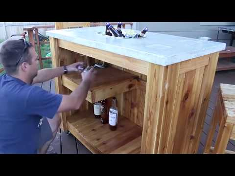 HOW TO MAKE AN OUTDOOR PARTY BAR CART – Woodworking Projects
