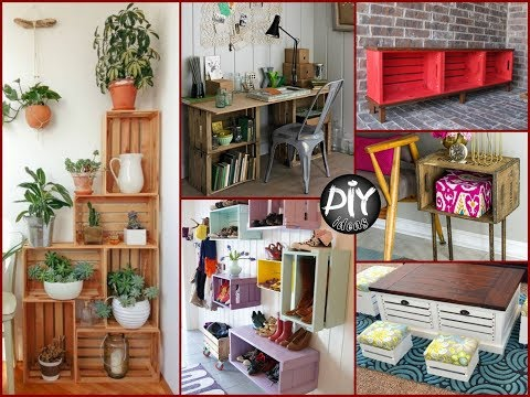 50 Creative  Ways to Turn Wooden Crates Into Furniture – DIY Wood Projects
