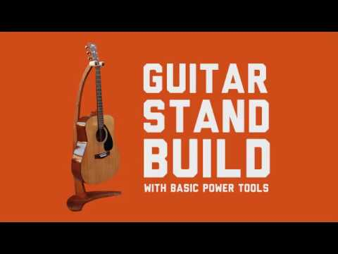 Wooden guitar stand made using basic power tools – Easy DIY woodworking projects