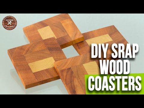 DIY Easy Wood Coasters / Scrap Wood Coasters | Woodworking Projects |  Interio Workshop