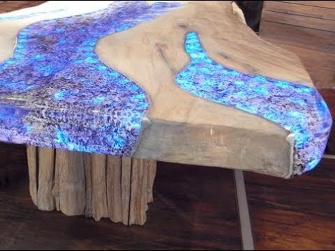 Amazingly Tabletop epoxy filling process, epoxy table, woodworking table, Epoxy Wood Resin
