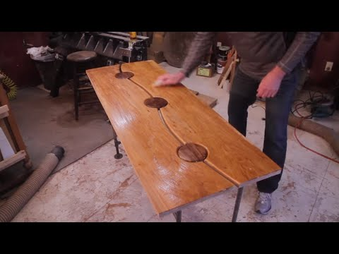 Maple and Walnut Table Entry Table Woodworking Projects