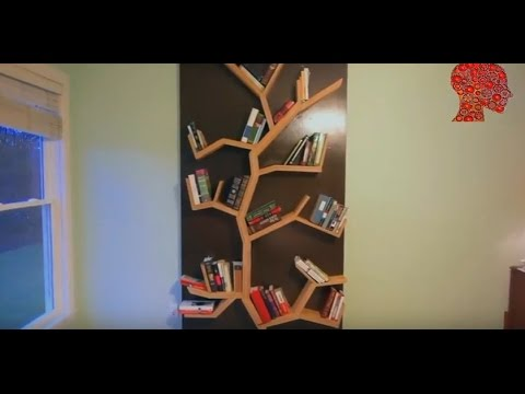 Woodworking # 3 – DIY How To Make A Tree Bookshelf – WoodWork