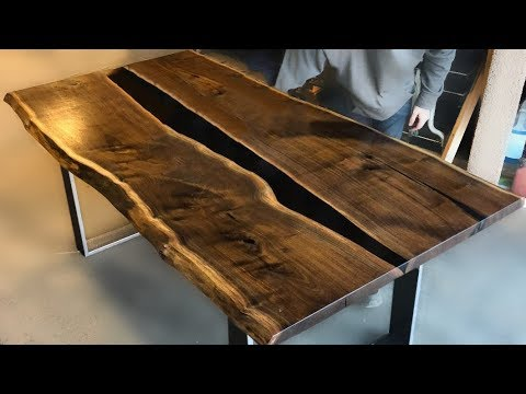 Make Amazing Epoxy Resin Table with Walnut Wood ! Awesone DIY Woodworking Projects and Ideas