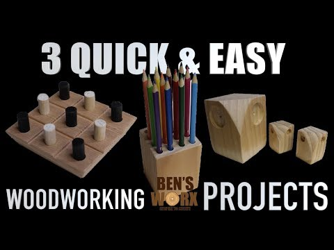 3 EASY WOODWORKING PROJECTS **CHRISTMAS GIFTS**