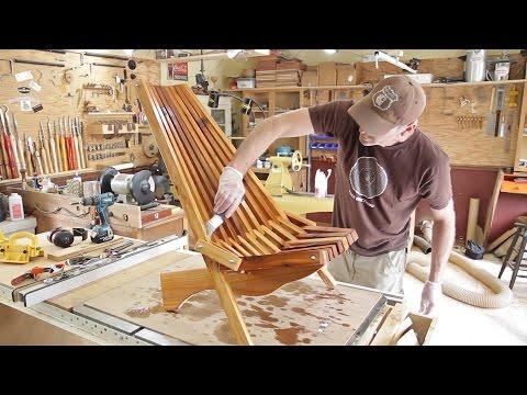 Folding Cedar Lawn Chair / DIY Woodworking Projects
