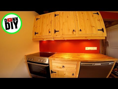Affordable DIY Solid Wood Blacksmith Cupboards – Sauna House Build #8