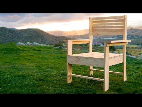 Making a Patio Chair – simple DIY woodworking project