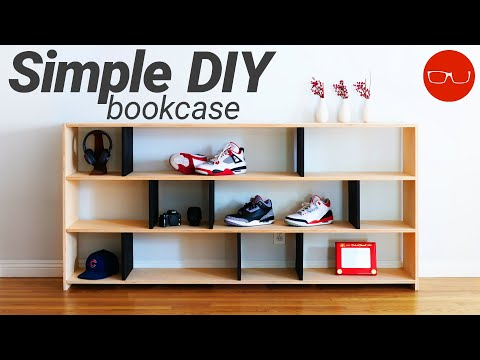 DIY Bookshelf | Simple Woodworking Project with Limited Tools