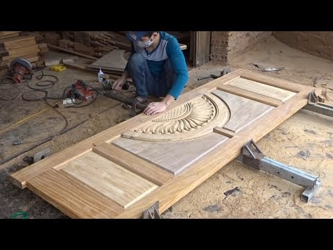 Amazing Techniques Carpenters Woodworking Peak Skills – Build A Modern Front Doors Wooden Beautiful