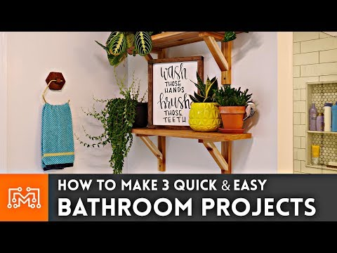 How to Make 3 Easy Bathroom Projects // Woodworking