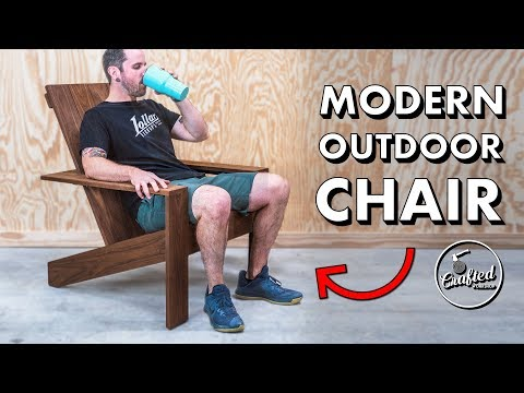 How to build a modern Adirondack chair // Outdoor Woodworking Plans