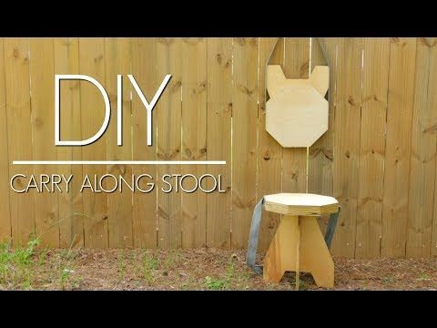 DIY – Plywood Folding Stool | Easy Woodworking Project | Izzy Swan