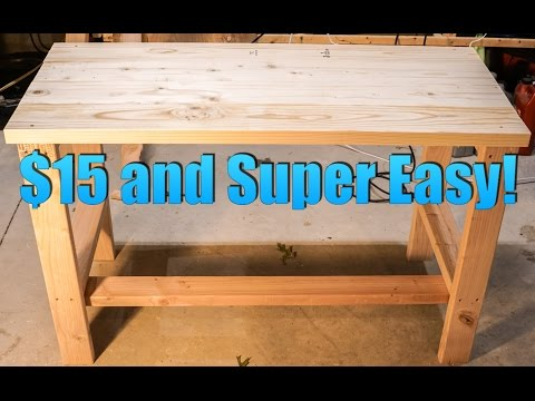 Build a Super CHEAP and EASY Desk!