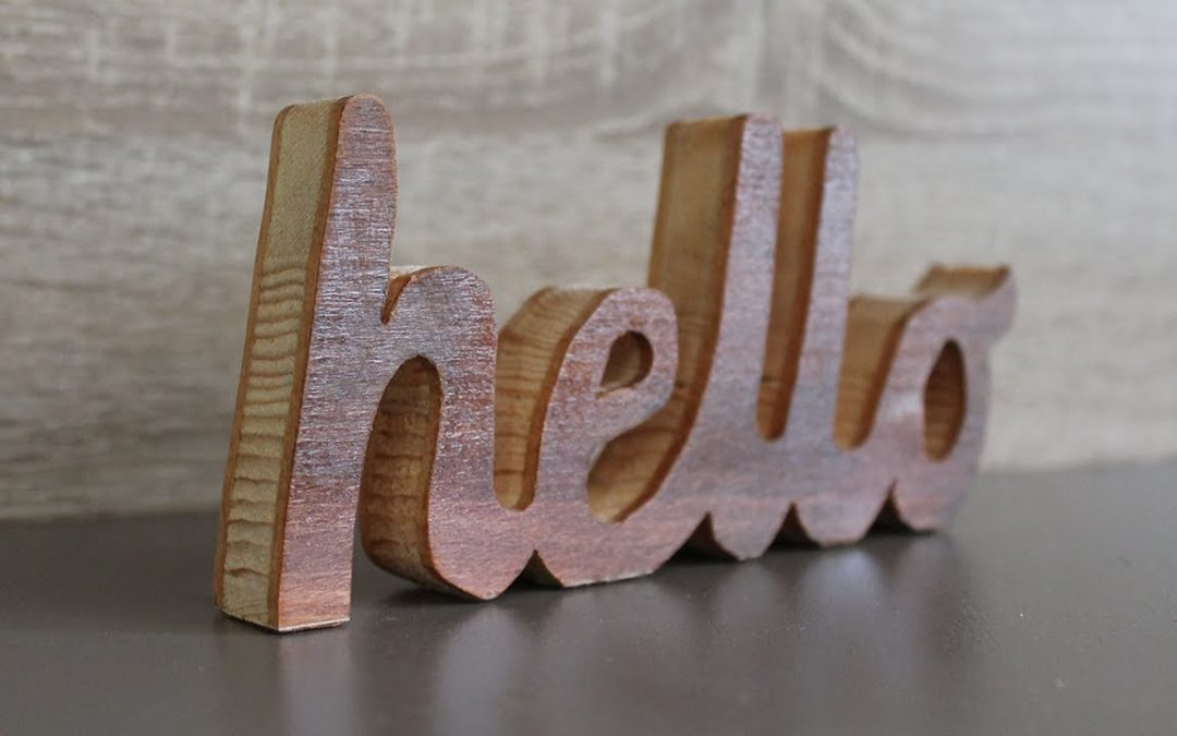 DIY wood projects room decor – Cutting wooden letters