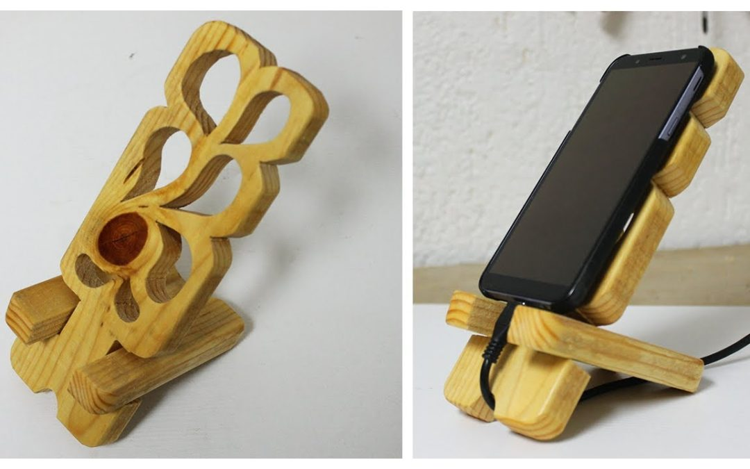 Small woodworking projects – DIY phone dock station
