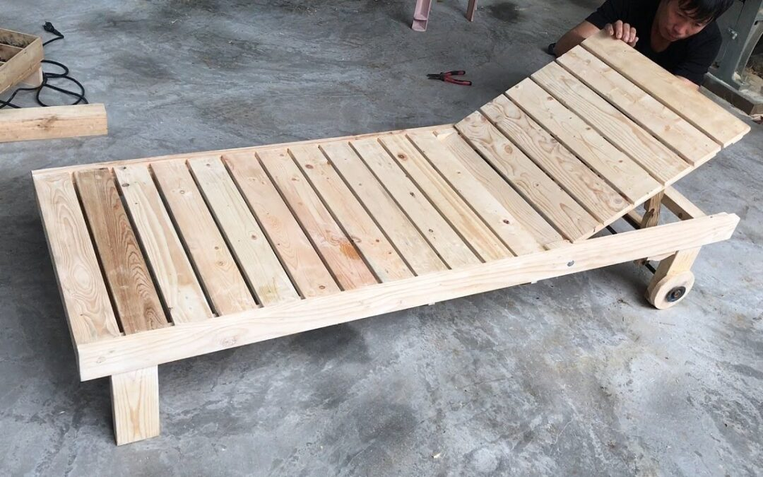 Amazing Creation Woodworking Ideas From Old Pallet // Build A Sun Loungers – How To, DIY!