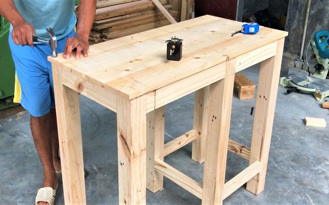 Building Outdoor Reading Desk || How To, DIY // Amazing Woodworking Projects From Old Pallet Wood