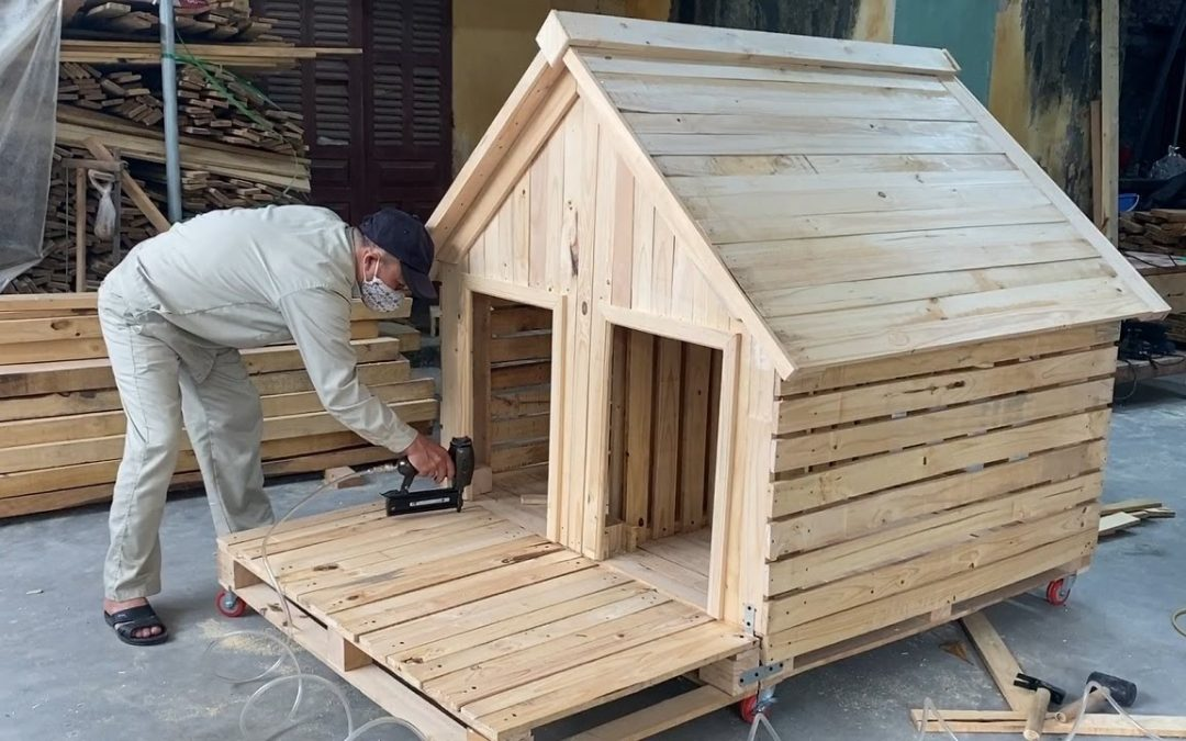 DIY Design Ideas For Woodworking Projects From Pallet Wood – Build A Pet Wooden House From Pallets