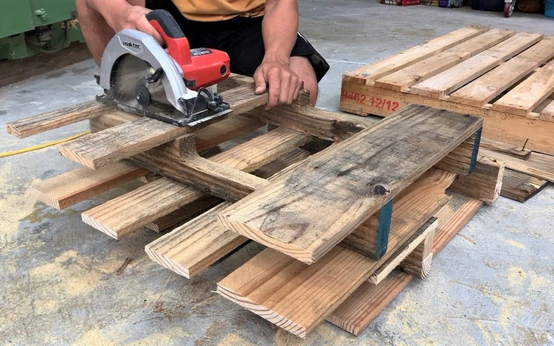 Amazing Design Ideas Woodworking Project From Pallet // Build A Outdoor Chair From Old Pallets – DIY