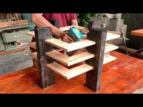 Unique Woodworking Ideas // DIY Modern Design Coffee Table With Beautiful Pallet Wood