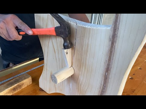 Easy And Inexpensive Woodworking Projects For Beginners // Build A Park Bench With A Reclined Seat