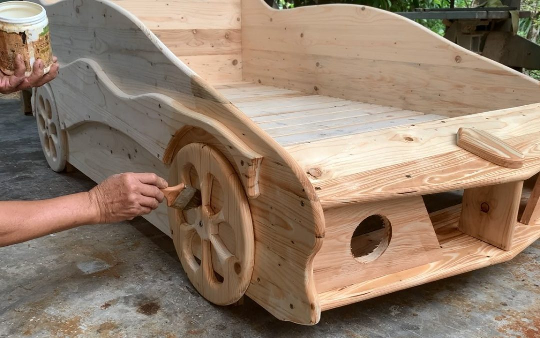 Woodworking Ideas Inspired By Cars // How To Make A Unique Stylish Baby Bed – DIY!